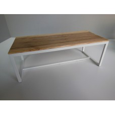Parsons Dining Table - White Base with Cypress Top