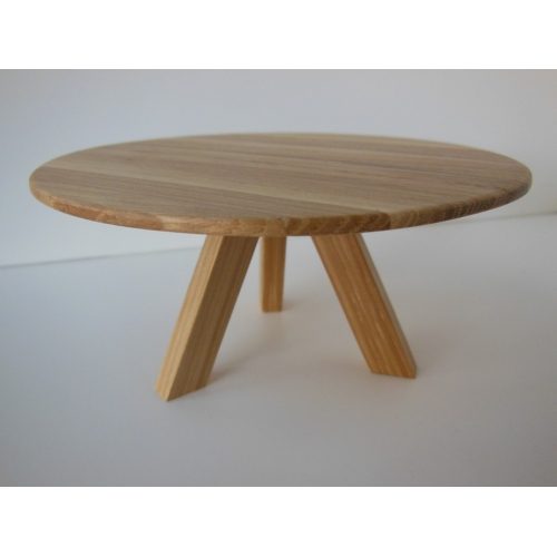 Round Farmhouse Dining Table In Hickory