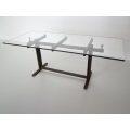 Trellis Dining Table in Rust