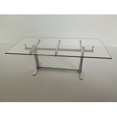 Trellis Dining Table in Silver