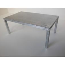 Vintage Metal Parsons Dining Table