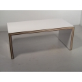 White Laminated Dining Table