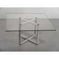 X Dining Table in White with Square Top