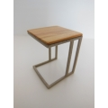 Carson Side Table Australian Cypress Champagne Base