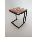 Carson Side Table M.U.T.T. Top with Black Base