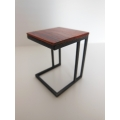 Carson Side Table Cocobolo Top Black Base