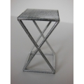 Scissor Side Table in Burnished Metal
