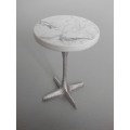 Nelson Side Table in Chrome/Marble