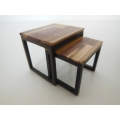 Nesting Side Tables M.U.T.T. Top Natural Steel Base