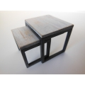 Nesting Side Tables in White Wash