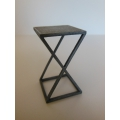 Scissor Side Table in Hammered Metal