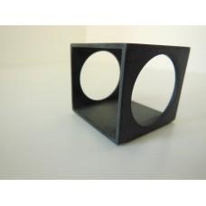 Spatial Side Table in Black Steel Finish