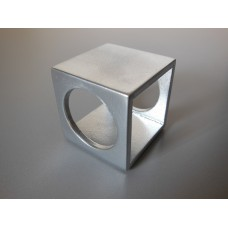 Spatial Side Table in Silver Metallic