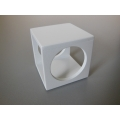 Spatial Side Table in White