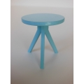 Tripod Side Table in Blue