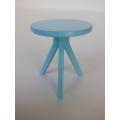 Tripod Side Table in Blue