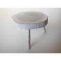 Woodland Side Table in White Wash