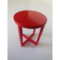 X Side Table in Red