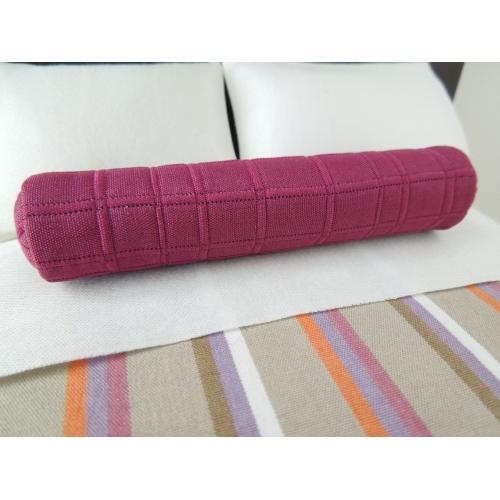 Modern Bolster Pillows : Modern Dollhouse Furniture M112 PODS Pink Grid Long Bolster Pillow by Paris Renfroe Design