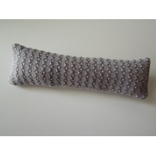 Gold / Lavender Textured Long Oblong Pillow