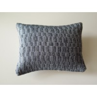 Shimmer Blue Large Rectangle Pillow