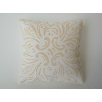 Goldenrod Batik Large Square Pillow