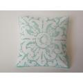 Turquoise Batik Large Square Pillow