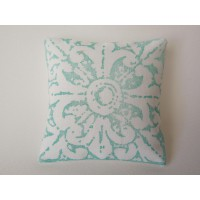 Turquoise Batik Large Square Pillow