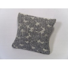 Blue / Cream Large Square Pillow