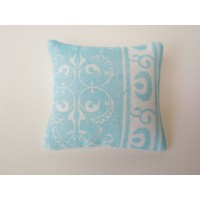 Paisley Blue Small Square Pillow