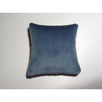 Blue Velvet Large Square Pillow