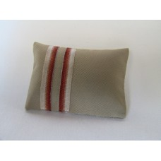 Banded Tan Medium Rectangle Pillow