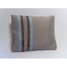 Banded Taupe Medium Rectangle Pillow