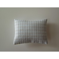 Light Blue Check Medium Rectangle Pillow