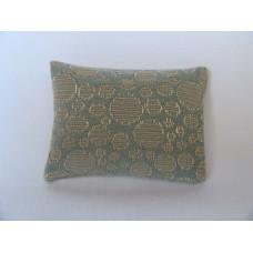 Blue Circle Medium Rectangle Pillow
