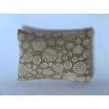 Cream Circle Medium Rectangle Pillow