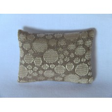 Cream Circle Medium Rectangle Pillow