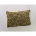 Gold Circle Medium Rectangle Pillow