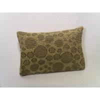 Gold Circle Medium Rectangle Pillow
