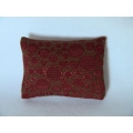 Rust Circle Medium Rectangle Pillow
