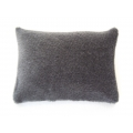 Charcoal Velvet Medium Rectangle Pillow
