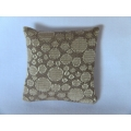 Cream Circle Medium Square Pillow
