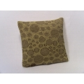 Gold Circle Medium Square Pillow