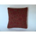 Rust Circle Medium Square Pillow