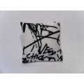 Graffiti Medium Square Pillow
