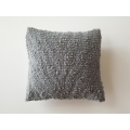 Gray Textured Medium Square Pillow