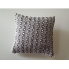 Gold / Lavender Textured Medium Square Pillow