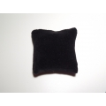 Black Velvet Medium Square Pillow