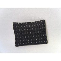 Charcoal Silver Dash Small Rectangle Pillow