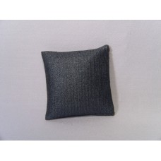 Metallic Blue Small Square Pillow